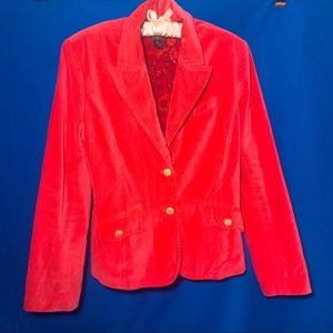 Lucky red/fuschia velvet blazer size XL